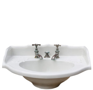 An Antique French Porcelain Basin / Sink