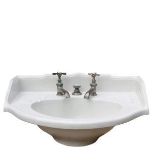 An Antique French Porcelain Basin / Sink