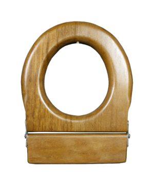 An Antique Mahogany Toilet Seat