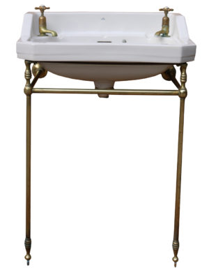 Art Deco 'The Metro' Basin with Brass Stand