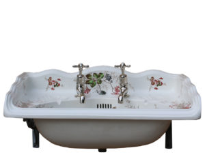 An Antique English Transfer Printed Basin or Sink