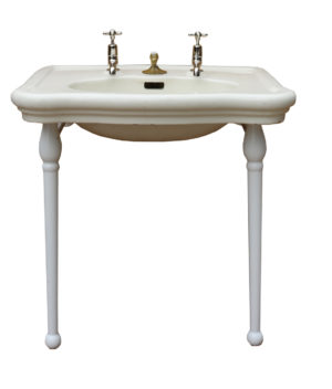 An Antique French Sink or Basin with Stand