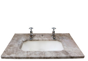 A Reclaimed Art Deco Marble Basin