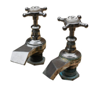 Pair of Unusual Shanks & Co Bath Taps