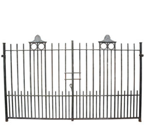 A Set of Reclaimed Wrought Iron Driveway Gates