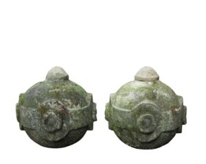 A Pair of Antique Portland Limestone Pier Caps or Finials