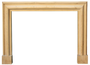 An Edwardian Pine Bolection Fire Surround