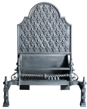 A Large Baroque Style Victorian Fire Grate