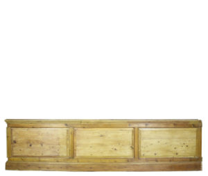 12.7 Meters of Antique Raised and Fielded Pine Dado Panelling