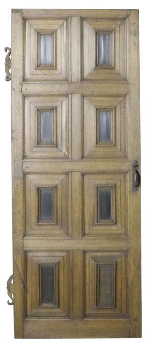 An 18th Century English Eight Panel Oak Door