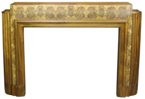 1920s Art Deco Burr Walnut Fire Surround