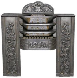 A Small 19th Century Cast Iron Hob Grate