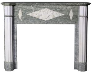 A French Art Deco Period Marble Fire Surround