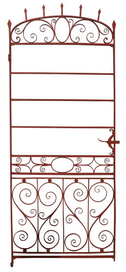 An English Regency Period Wrought Iron Side Gate