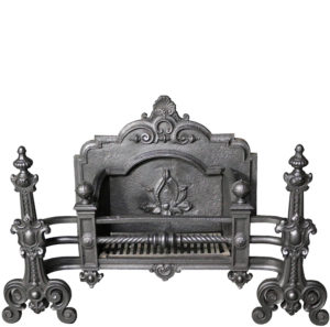 A Late 19th Century Cast Iron Fire Grate