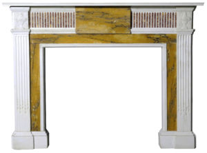 A Large Antique George III Style Sienna Marble Fire Surround