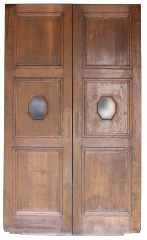 A Set of Reclaimed Glazed Oak Double Doors