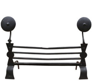 18th Century English Wrought Iron Fire Grate