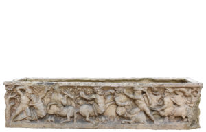 Classical Greek / Roman Style Sarcophagus Depicting a Battle Scene
