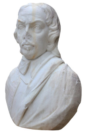 An Antique English Marble Bust of Oliver Cromwell