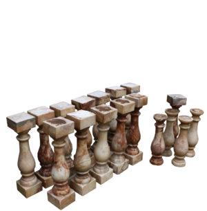 A Set of Twelve Antique English Alabaster Balusters