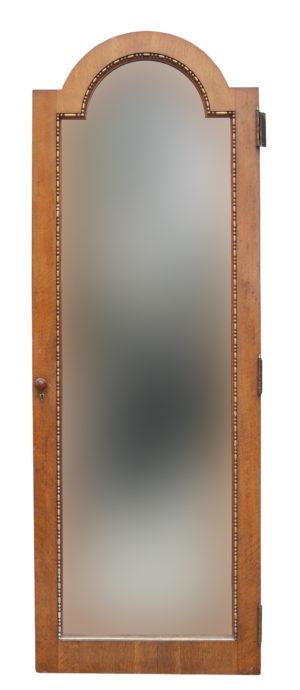 An Antique Mirrored Oak Door