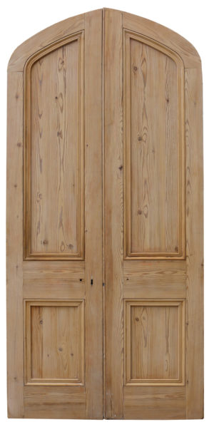 Pair Of Victorian Arched Pine Double Doors
