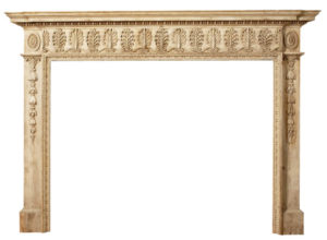 A Fine George III English Pine Chimneypiece