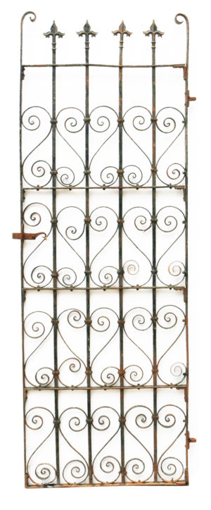 A Tall Victorian Wrought Iron Pedestrian Gate