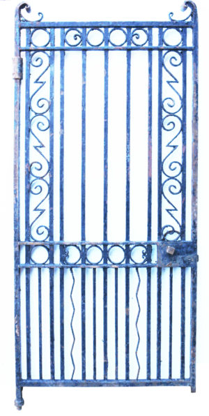 An Antique Wrought Iron Pedestrian Gate