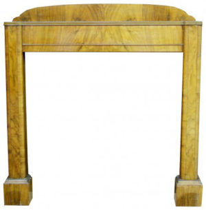 An Art Deco Style Walnut Fire Surround