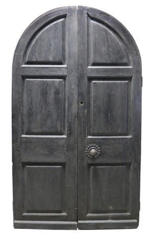 A Set of English Oak Exterior Arched Double Doors