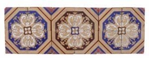 A Set of 12 Antique Minton & Co. Encaustic Tiles