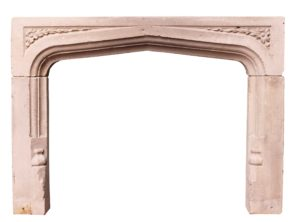 An Antique Limestone Fire Surround