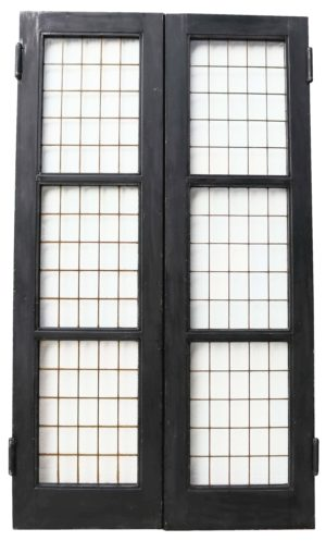 A Set of Reclaimed Copper Light Double Doors (18 sets available)