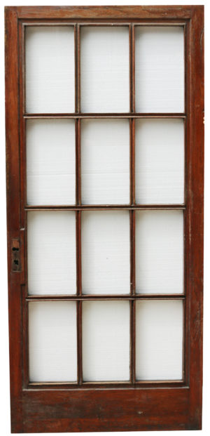 Glazed Mahogany Door Circa. 1900