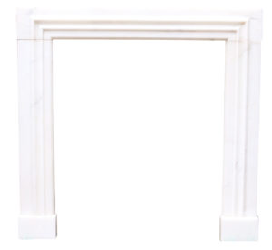 Antique White Statuary Marble Fire Surround