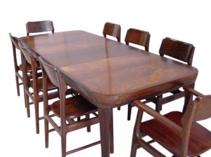 A Danish Rosewood Dining Table and Chairs
