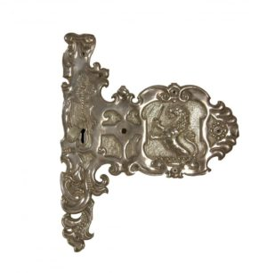 An Antique Armorial Door Escutcheon Plate