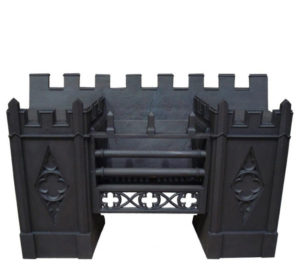 An Antique Gothic Style Hob Grate