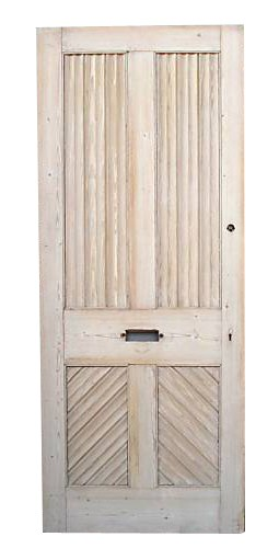 A Reclaimed Victorian Four Panel Front Door