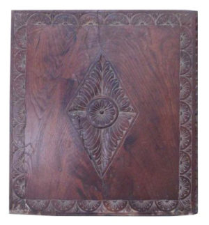 A 17th Century English Carved Oak Panel