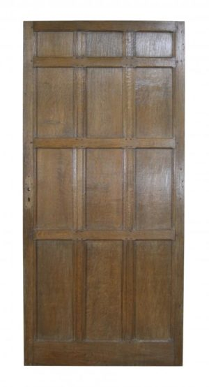 An Antique Oak Panelled Door
