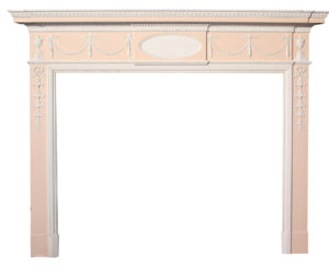 A Reclaimed Georgian Painted Timber Fire Surround