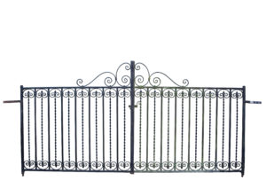 A Pair of Reclaimed Wrought Iron Drive Gates