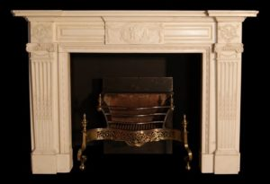 Very Fine 19th Century Chimneypiece In Statuary Marble