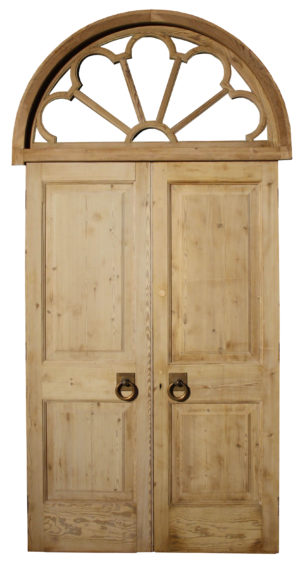 A Set of Reclaimed Double Doors with Fanlight