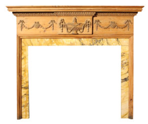 An Antique Georgian Style Carved Pine Fire Surround