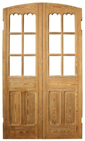 A Pair of Reclaimed Antique Pine Chapel Doors