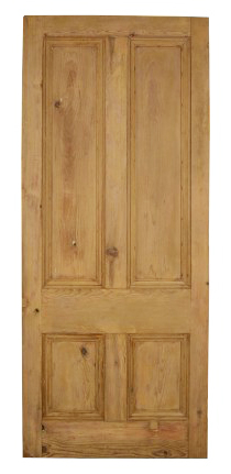 Substantial Victorian Four Panel Pine Front Door